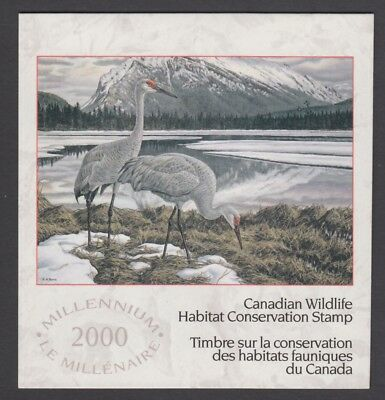 FEDERAL WILDLIFE 2000 MNH SIGNED FWH16d SANDHILL CRANES BY KEN FERRIS