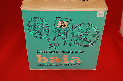 Vintage Baia Reviewer MARK II 8 mm Live Action Movie Editor