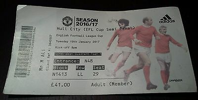 Manchester United FC v Hull City 10/1/2017 Used Matchday Ticket RARE