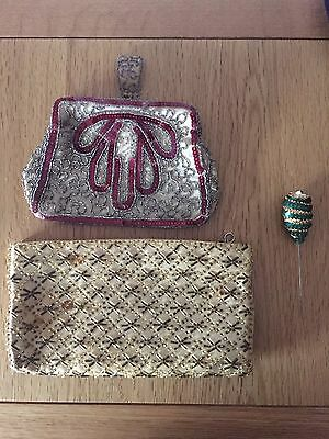Vintage Antique Handbags And Hat Pin