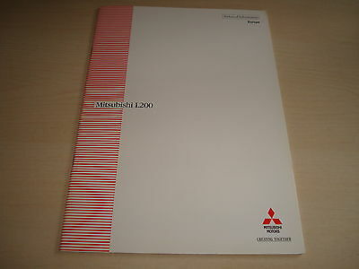 Mitsubishi L200 Technical Information Europe Brochure - Dated August 1996