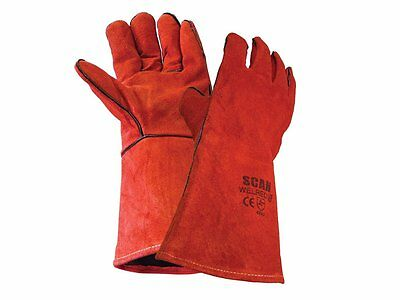 Garden Gloves Heavyduty Leather Seams Lined Welding Fire Resistant Barbeque