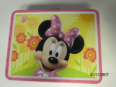 Minnie Mouse Tin Box Carry All  Free Shipping