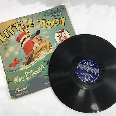 Walt Disney's Melody Time Little Toot Record Capital Told By Don Wilson DAS-80