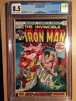 Iron Man #54 CGC 8.5 Universal VF+ First appearance of Moondragon
