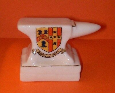 Willow Art Crested China Anvil Goring on Thames Crest
