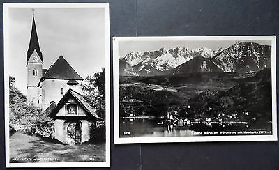 Maria Worth Austria, Real Photograph,1 Posted, 1 Unposted Postcards x 2, 1950s