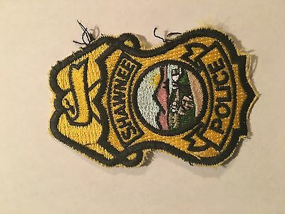 Shawnee Kansas Police.    Gold with full color state seal  3 inch tall