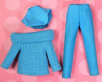Vintage Skipper 1915 Outdoor Casuals Turquoise Pants Sweater & Dickey EXCELLENT