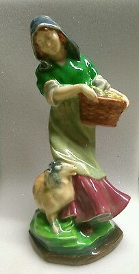 Hn476 Royal Doulton Gathering Fruits Figure Not Known To Exist Trial Colourway