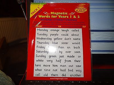 Magnetic Words for year 1 & 2 Pack 3