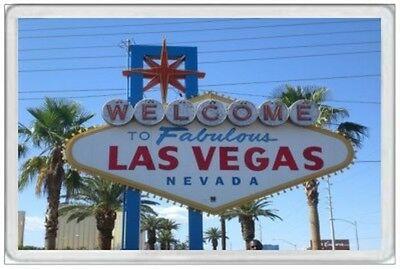 Las Vegas - Jumbo Fridge Magnet - Welcome Sign Golden Nugget United States