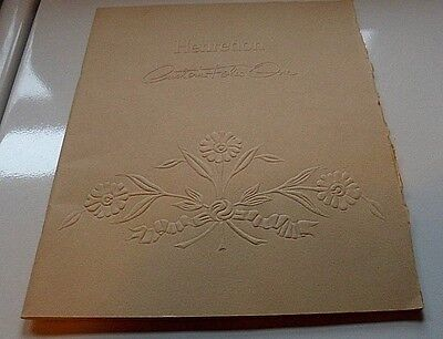 1960's Vintage Henredon Custom Folio One 38 pg catalog visual design index RARE
