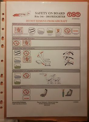TNT Airways 146-300 safety card