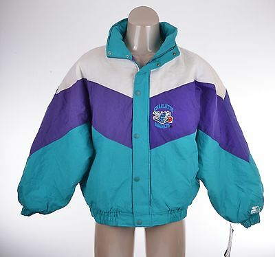 VTG CHARLOTTE HORNETS Official STARTER Jacket Coat with tags Sports Basketball