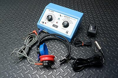 Ambco 650A Pure Tone Audiometer w/ Headset, Remote, Power Supply, Case