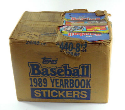 # 1989 Topps Baseball Yearbook Sticker Case (24 Boxes)