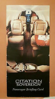 Cessna Citation Sovereign safety card