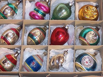 vintage premier christmas ornament WWII large glass unsilvered indent lantern 12