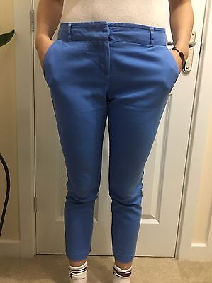Women's Size 8R Blue Cropped Trousers From Next