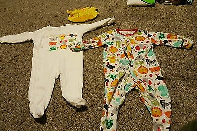 Next baby boys/girls unisex babygrows up to 3 months with matching hat