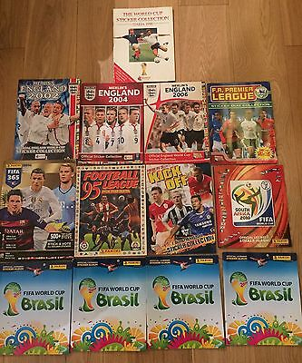 Collection Of Incomplete Football Sticker Albums