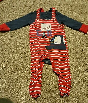 Mothercare boys dungerees outfit with bodysuit age 3-6 months