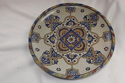 RARE Antique Islamic Middle Eastern Earthenware Pottery Huge 19 ½ Inch Charger
