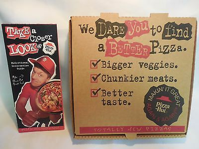 Pizza Hut Small Pan Pizza Unused Box With Nutritional Guide From 1997.