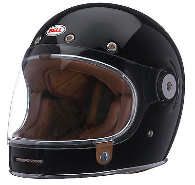 Bell Black Adult Bullitt Solid Full Face Retro Motorcycle Helmet