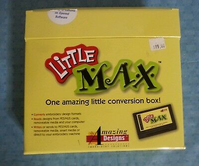 Amazing Designs LITTLE MAX Embroidery Transfer Conversion Box with Memory Card