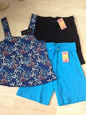 Ladies shorts and top bundle, size 8 (BNWT)