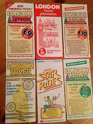 London Saver And Other London Related Transport Leaflets from the 1980s