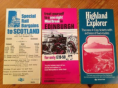 British Rail Scotland Related Leaflets from the 1970s