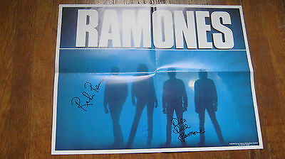 ramones promo poster to tough to die signed punk clash sex pistols damned