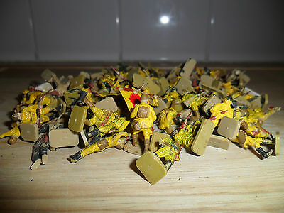 100 Vintage AIRFIX HO-OO 1/72 Scale WW2 JAPANESE INFANTRY Soldiers (1970s)