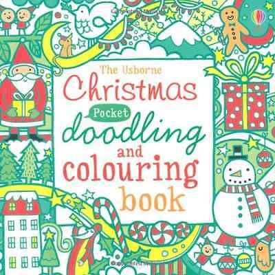 Christmas Pocket Doodling and Colouring Book, Good Condition Book, Fiona Watt, I