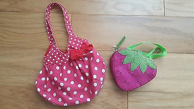 girls h&m red polka dot purse plus glowing strawberry purse accessories