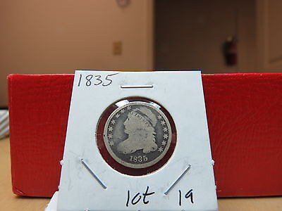1835 Capped Bust Dime 10 cent GOOD Lot 19