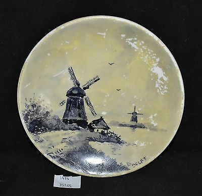 ThriftCHI ~ Delft Petrus Maastricht Hand Painted Mini Plate Wall Hanging Holland