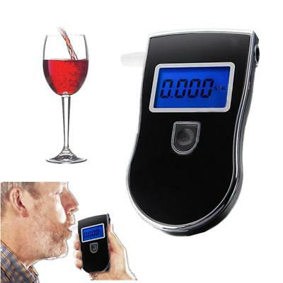 LCD Screen Police Digital Breath Alcohol Analyzer Tester Alert Breathalyzer BLK