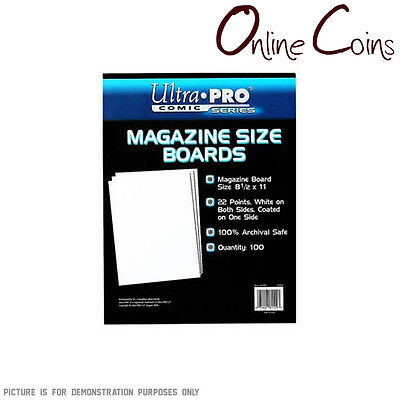 Ultra Pro Comic Series -MAGAZINE Size Comic Backing Boards x 100 FACTORY SECONDS