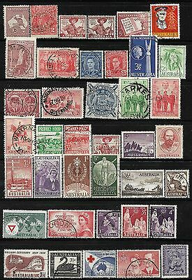 AUSTRALIA stamp collection 39 USED items