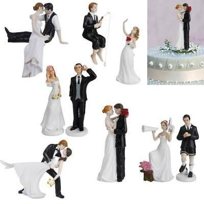 Funny Bride and Groom Wedding Cake Topper Decoration Resin Figurine