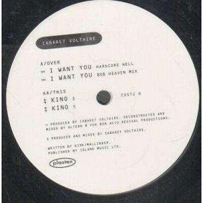 "CABARET VOLTAIRE I Want You 12"" VINYL UK Virgin 1992 4 Track Altern 8 Remixes"