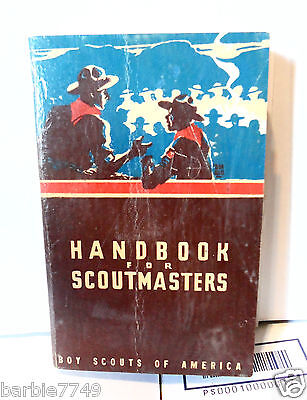 VINTAGE HANDBOOK For  SCOUTMASTERS   1947