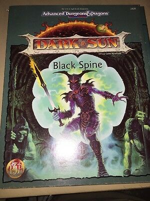 TSR Dark Sun Black Spine Dungeons And Dragons 2nd Edition