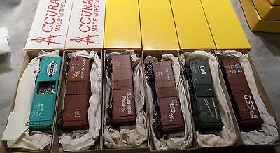 AccuRail HO Scale Train Freight Cars 6 pack