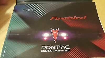 2000 Pontiac Firebird Trans Am Formula Owners Manual User Guide with case