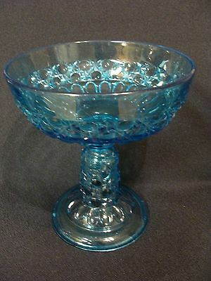 EAPG  Bellaire Goblet Co's Blue Currier & Ives Compote
